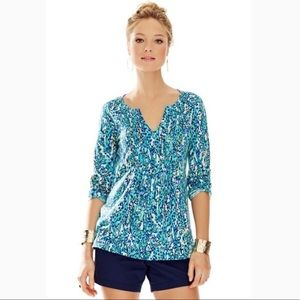 Lilly Pulitzer It's a Stretch Braylen Tunic Top